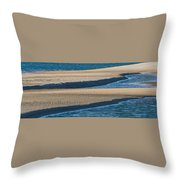 Sand And Water Textures Abstract Throw Pillow
