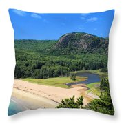 Sand Beach And The Beehive Throw Pillow