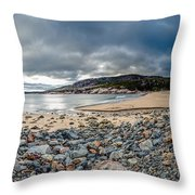 Sand Beach At Acadia Throw Pillow