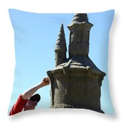 Sand Castle 1 Throw Pillow