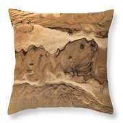 Sand Dog Throw Pillow
