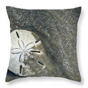 Sand Dollar On Boneyard Beach Throw Pillow