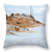 Sand Dune In Winter Throw Pillow