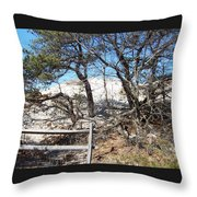 Sand Dune With Trees Throw Pillow