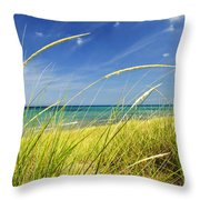 Sand Dunes At Beach Throw Pillow