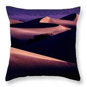 Sand Dunes At Sunrise Throw Pillow