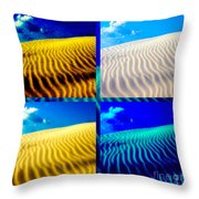 Sand Dunes Collage Throw Pillow