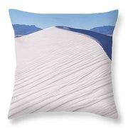 Sand Dunes In A Desert, White Sands Throw Pillow