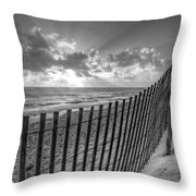 Sand Dunes In Black And White Throw Pillow