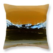 Sand Dunes In White Throw Pillow