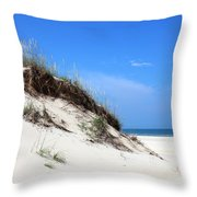 Sand Dunes Of Corolla Outer Banks Obx Throw Pillow