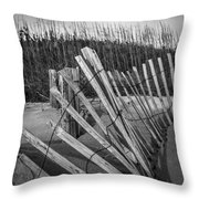 Sand Fence Throw Pillow