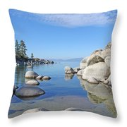Sand Harbor-lake Tahoe Throw Pillow