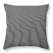 Sand In Black And White Throw Pillow