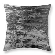 Sand In Low Tide Throw Pillow