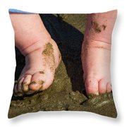 Sand Is Squishy Throw Pillow