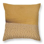 Sand Layers Throw Pillow