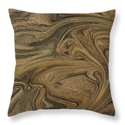 Sand Liquified Throw Pillow