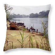 Sand Mining Throw Pillow