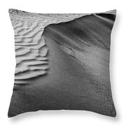 Sand Pattern Abstract - 2 - Black And White Throw Pillow