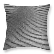 Sand Pattern Abstract - 3 - Black And White Throw Pillow