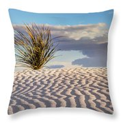 Sand Patterns And The Yucca Throw Pillow