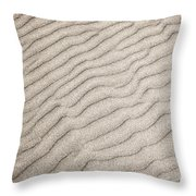 Sand Ripples Natural Abstract Throw Pillow