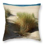 Sand Sea Mountains - Crete Throw Pillow