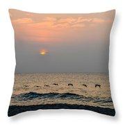 Sand Sea Sun Throw Pillow