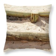 Sand Steps Throw Pillow