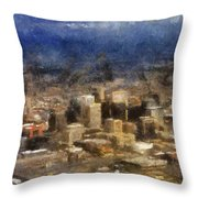 Sand Storm Approaching Phoenix Photo Art Throw Pillow