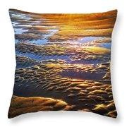 Sand Textures At Sunset Throw Pillow