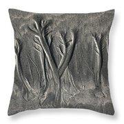 Sand Trees Throw Pillow