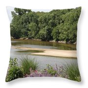 Sandbanks In The River Throw Pillow