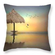 Sandbar Sunset Throw Pillow