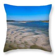 Sandbars On The Fort George River Throw Pillow