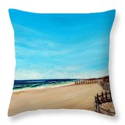 Sandbridge Virginia Beach Throw Pillow