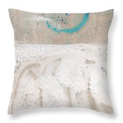 Sandcastles- Abstract Painting Throw Pillow by Linda Woods