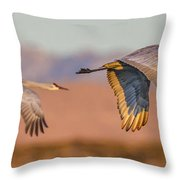 Sandhill Crane Pair Throw Pillow