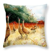 Sandhill Serenade Throw Pillow