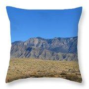 Sandia Mountains Throw Pillow