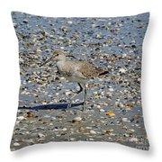Sandpiper Galveston Is Beach Tx Throw Pillow