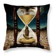 Sands Of Time ... Memento Mori  Throw Pillow