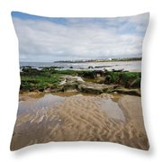 Sands Of Whitley Bay Throw Pillow