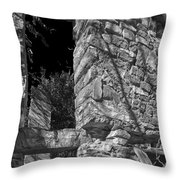 Sandstone Arch Jerome Black And White Throw Pillow