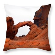 Sandstone Arch Valley Of Fire Throw Pillow