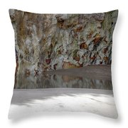 Sandstone Cave V2 Throw Pillow