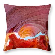 Sandstone Chasm Throw Pillow