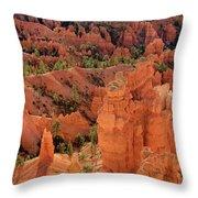 Sandstone Hoodoos At Sunrise Bryce Canyon National Park Utah Throw Pillow