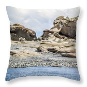 Sandstone Island Sculptures Throw Pillow